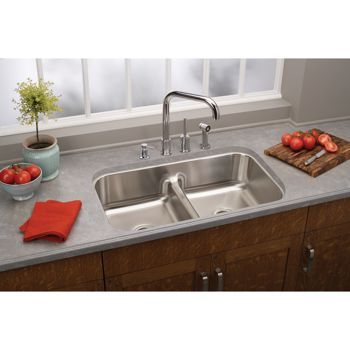 Elkay Stainless Steel Undermount Double Bowl Sink Stainless