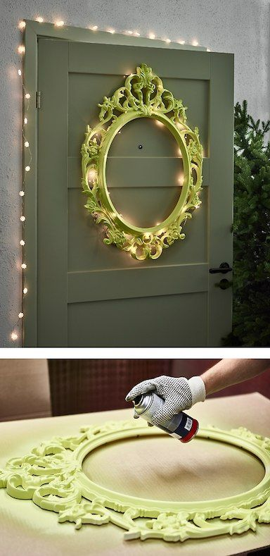 Want Some House Decorating Ideas In Time For The Holidays Create A Unique Frame For