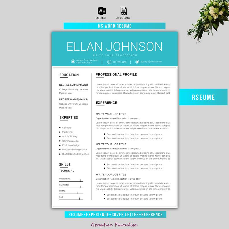 Canva resume Template resume template creative resume