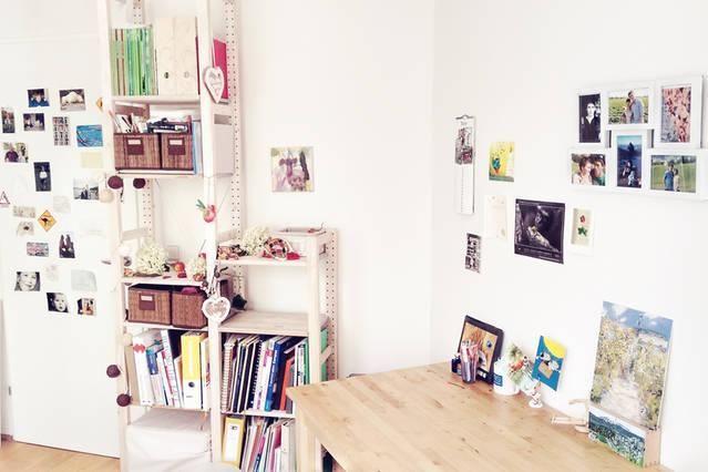 wg zimmer kunterbunt sch ne ideen f r schreibtisch gestaltung und aufbewahrung farben bilder. Black Bedroom Furniture Sets. Home Design Ideas