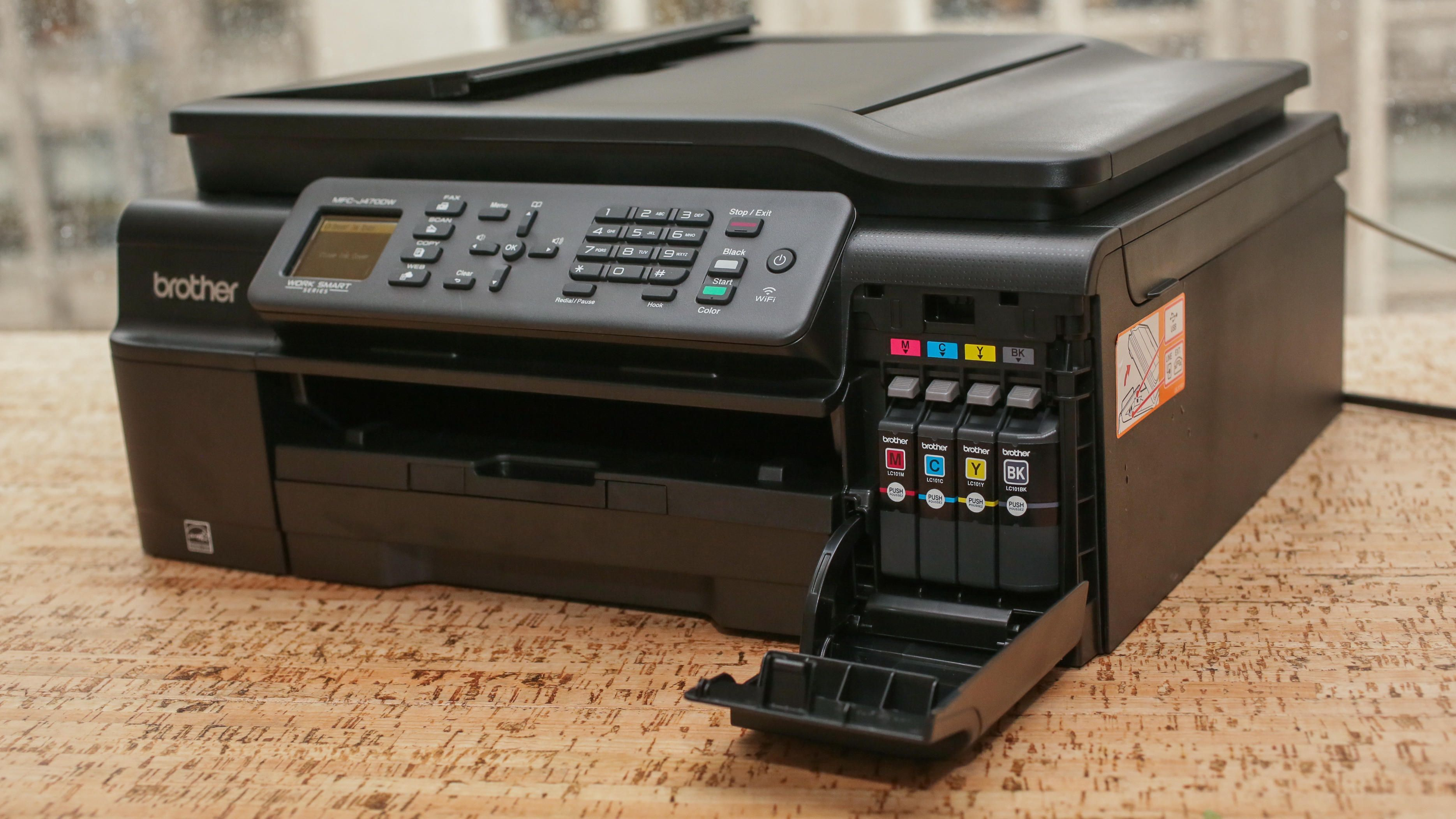 Brother Mfc J470dw Review A Sub 100 All In One Printer With Low Cost Ink Refills Brother Printers Brother Mfc Ink Refill