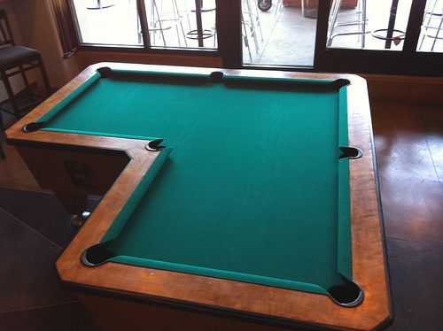 L Shaped Pool Table L Shape Cue Sports Pool Table