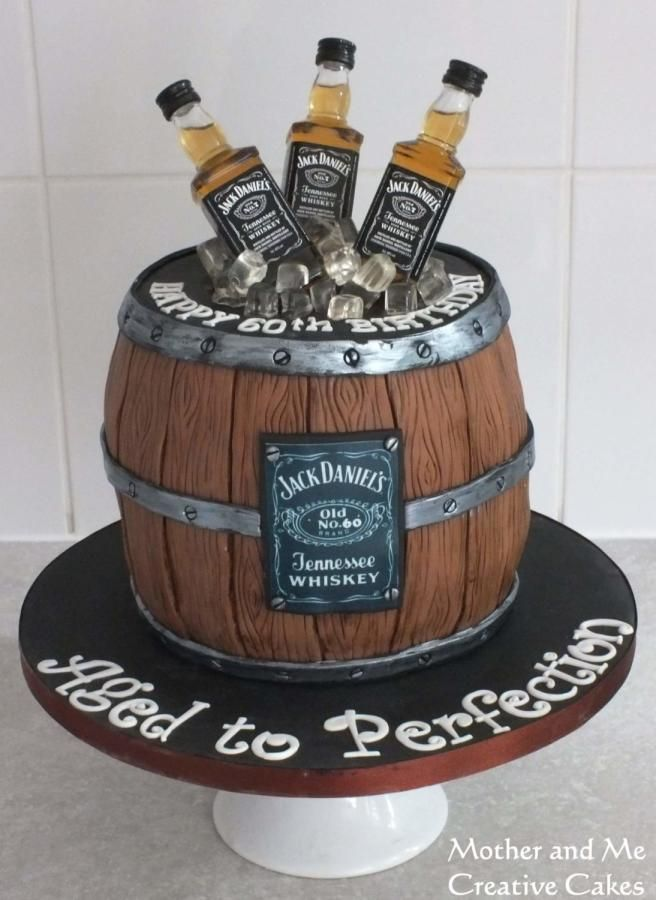 Image result for whisky barrel cake 40th Birthday Cakes