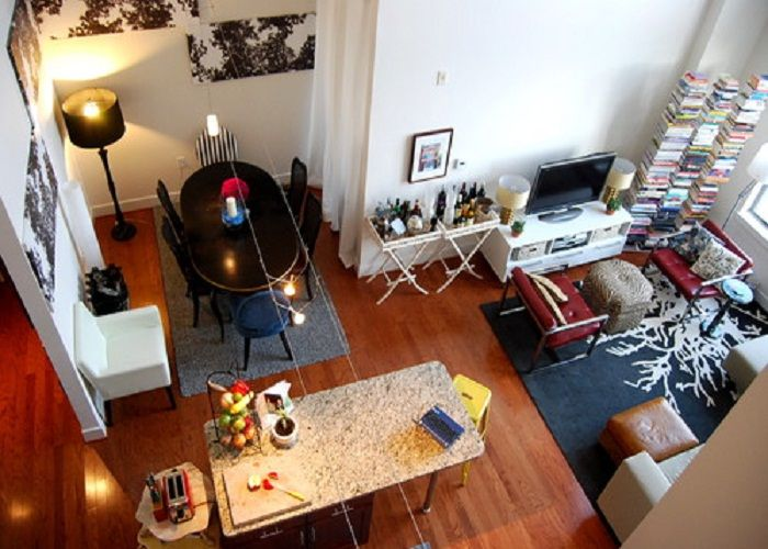 Stunning Entertaining Studio Apartment With Small TV Stand And
