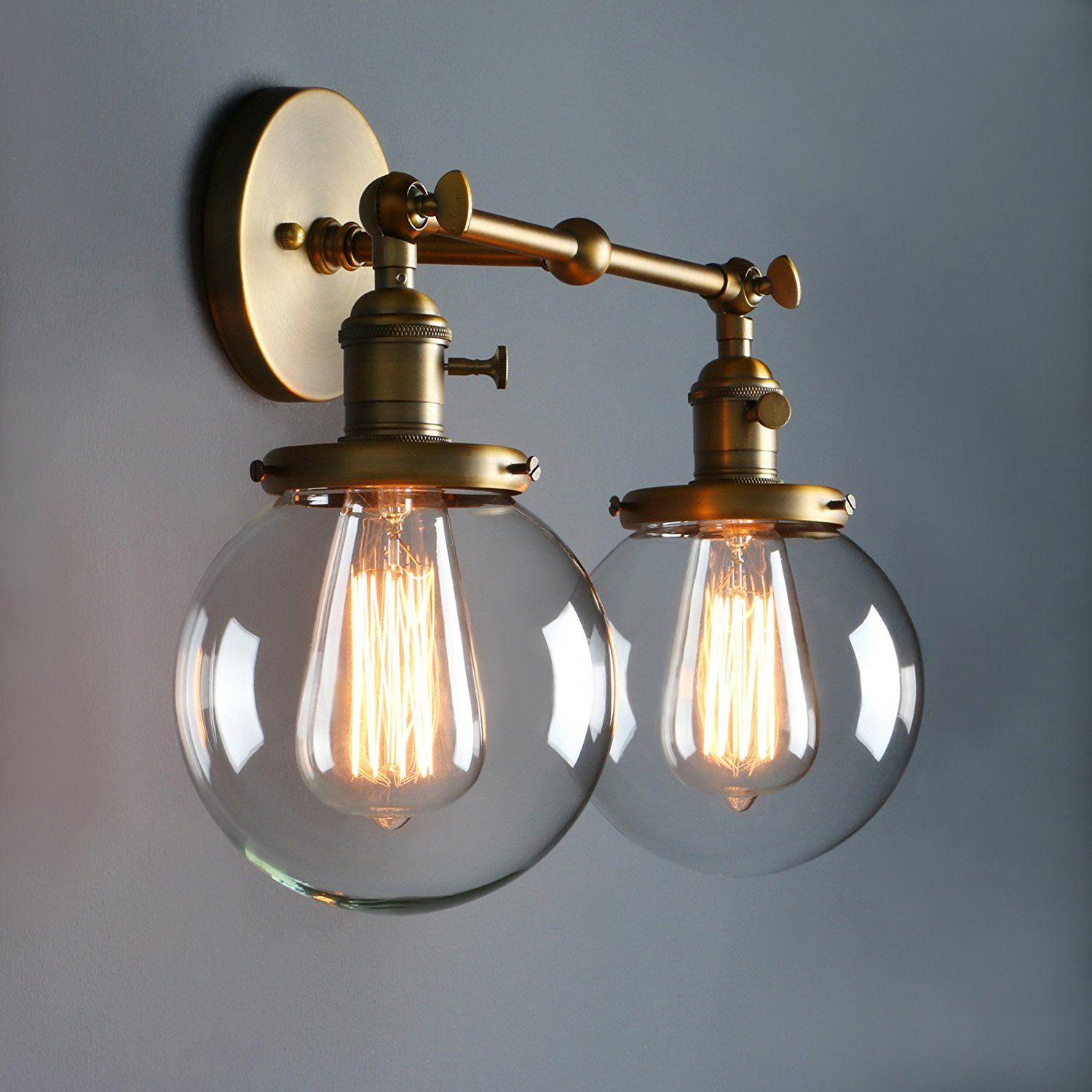 Phansthy Vintage 2 Light Wall Sconce Industrial Wall Light 5 9