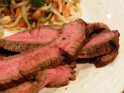 Kim S Concoctions Asian Grilled Flank Steak With Cilantro Lime Brown Rice And Green Papaya