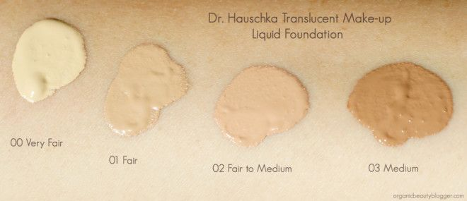 Dr Hauschka Translucent Make Up Foundation Swatches