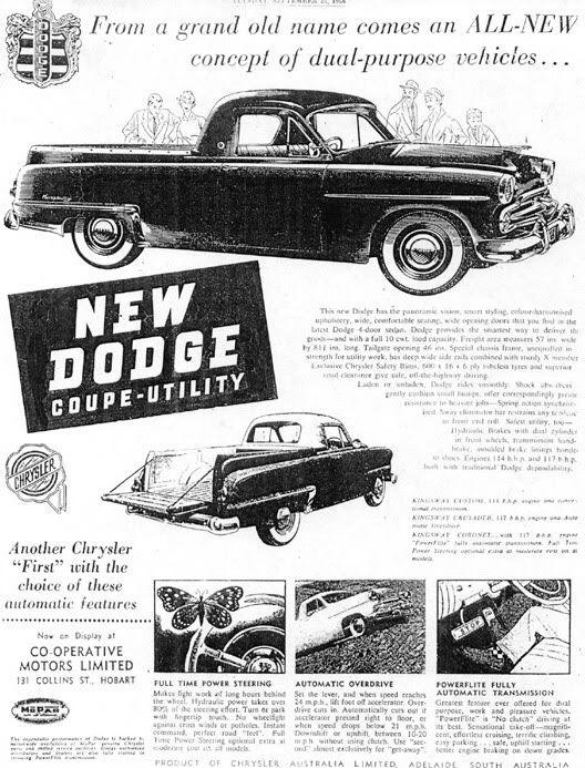 1956 Dodge Ute Ad