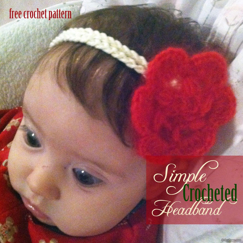 Free Crochet Pattern - Simple Crochet Headband   crafts   Pinterest ...