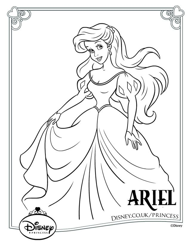 disney princess colouring pages 18 - Princess Print Out Coloring Pages