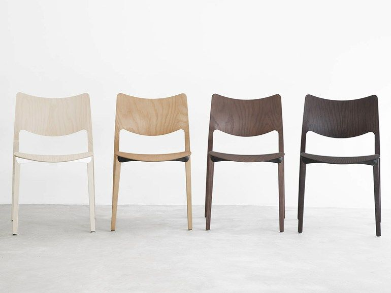 good einfache dekoration und mobel designerstuhl zesty #2: Stapelbarer Stuhl aus Esche LACLASICA by STUA Design Jesús Gasca