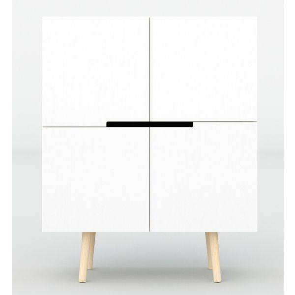 minimalistische küchenkommode sideboard in weiß für viele räume