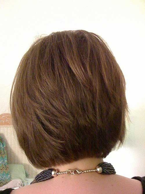 Cute Stacked Bob Hairstyles Short In The