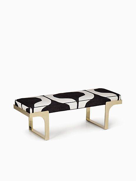 Kate Spade Beringer Bench, Black/Cream Abstract Geometric