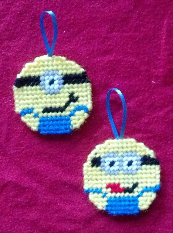 Hey, I found this really awesome Etsy listing at https://www.etsy.com/uk/listing/210832384/plastic-canvas-minion-ornaments