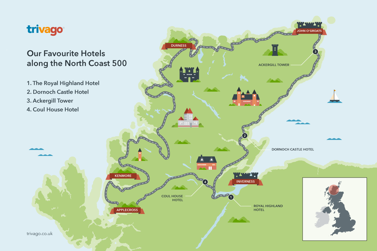 the north coast 500 is scotland's newest driving route. to help you