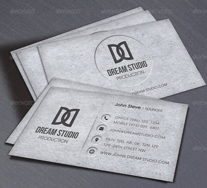 business card template indesign