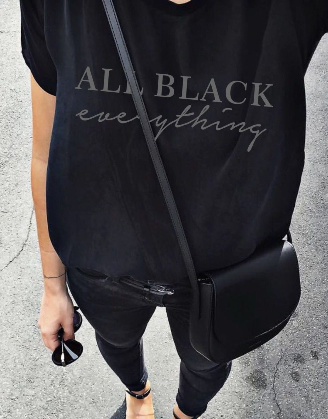 fe4f59a31c0c4 All black everything Tee - Hell Yes! | Awesome fashion clothes for stylish  women from Zefinka.