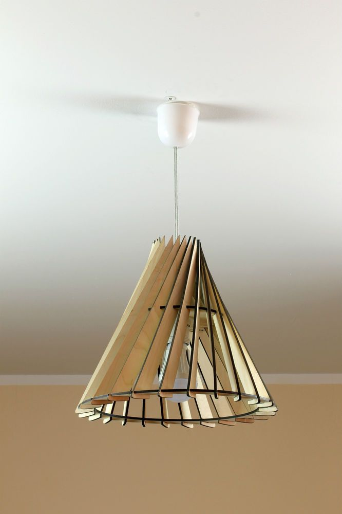 Wood Lamp / Eco Friendly / Wooden Lampshade / Decorative Ceiling Lamp In  Home U0026 Garden, Lighting, Fans, Lamp Shades | EBay