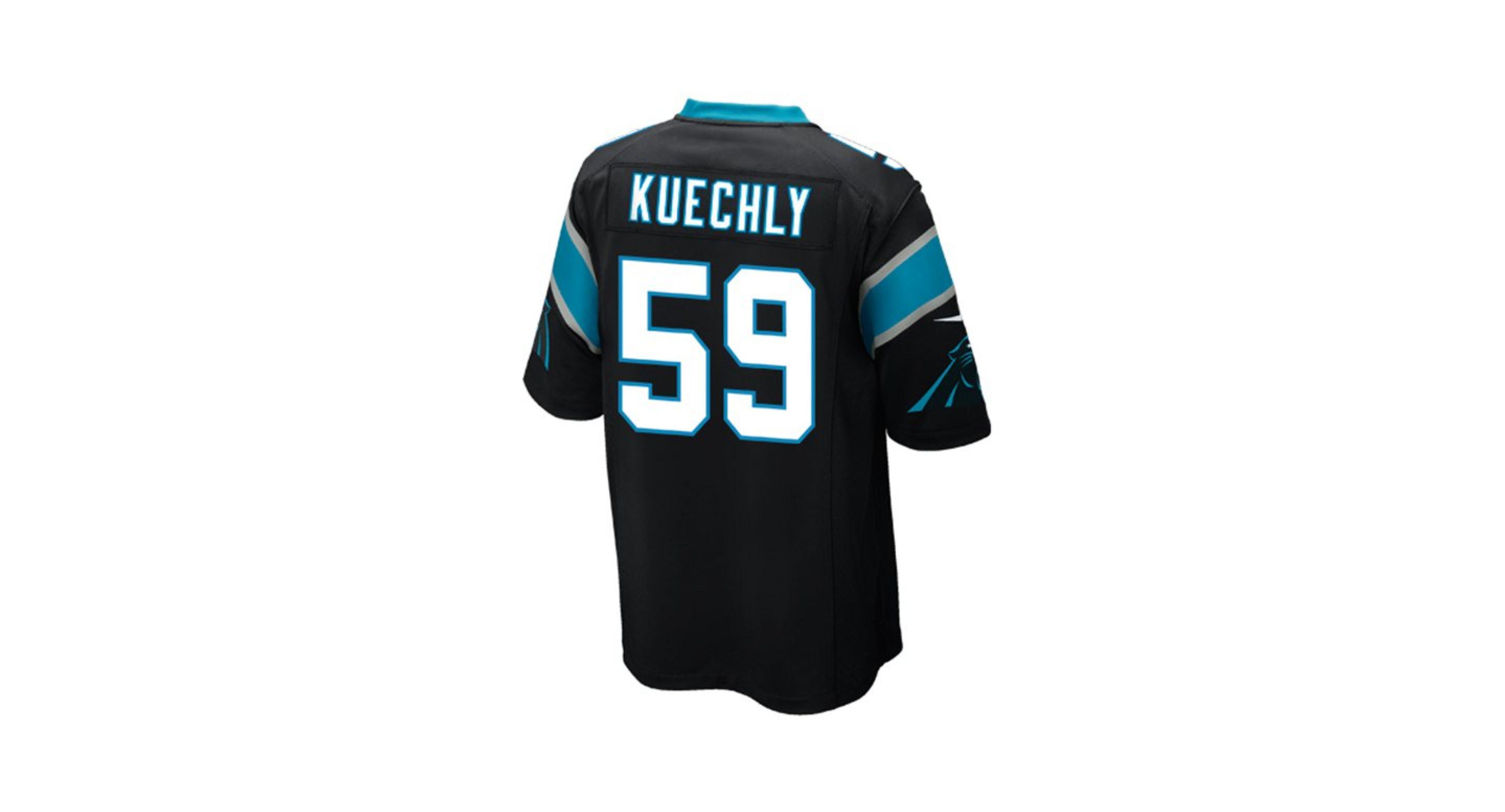 031b351e5 Nike Men s Luke Kuechly Carolina Panthers Game Jersey
