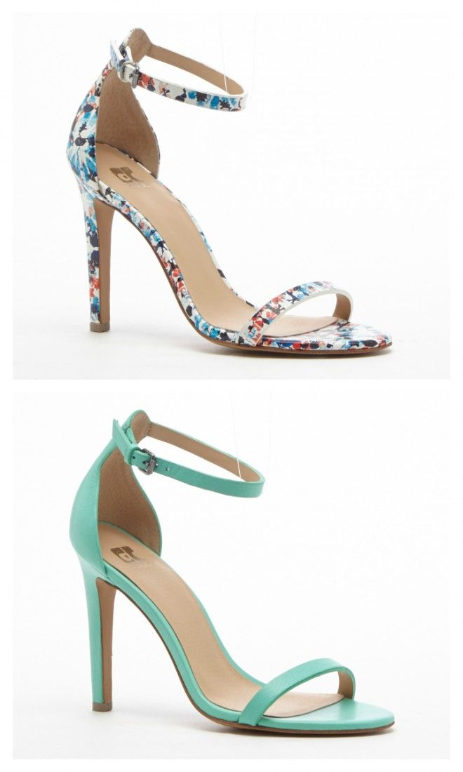 ef7cc706683a Minimalist high heel sandals in mosaic and seafoam green. Perfect for summer  weddings and parties.