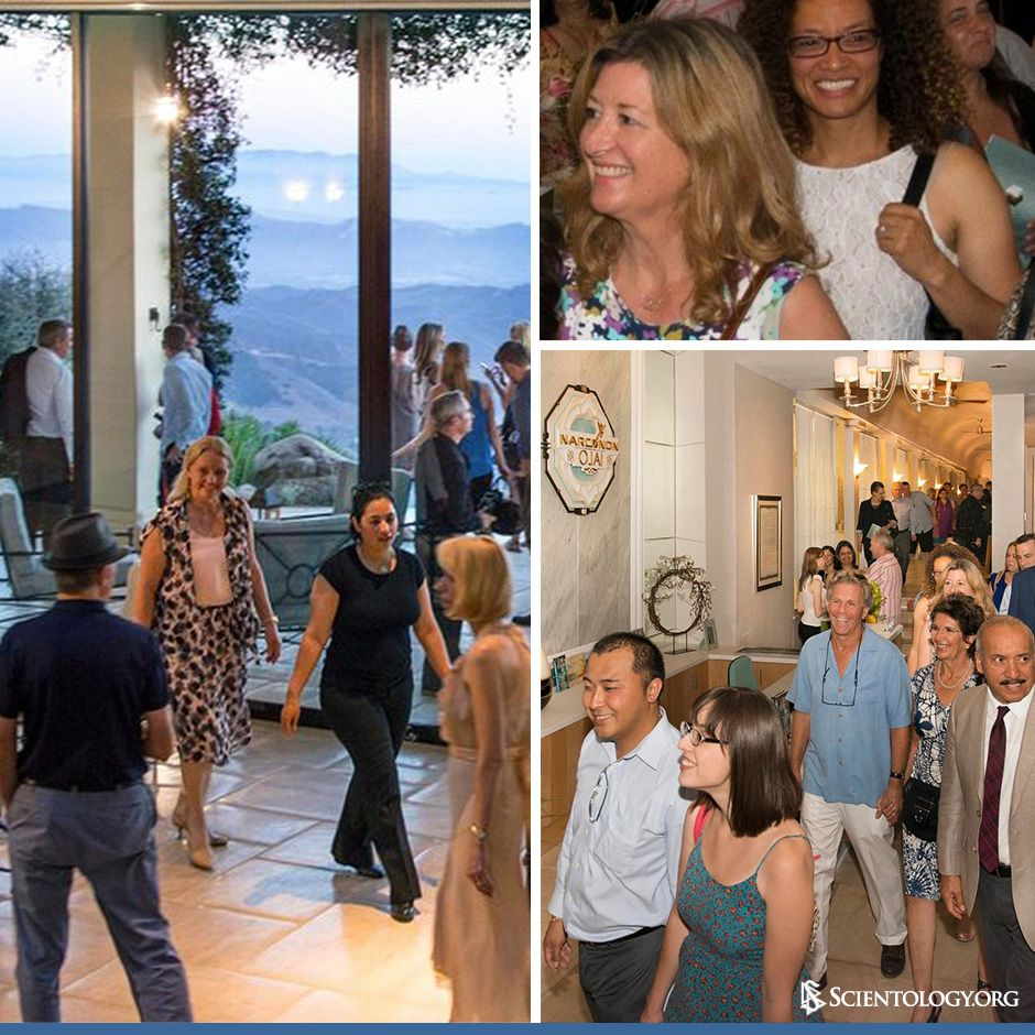 Following the ribbon-cutting ceremony of Narconon Ojai, Narconon supporters and their guests eagerly toured the new center and its exquisite facilities.