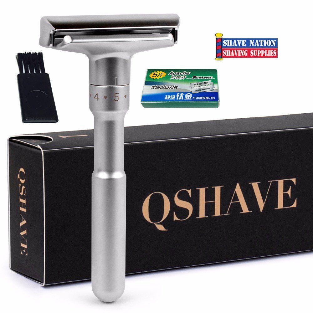 QShave Adjustable Double Edge Safety Razor Safety razor
