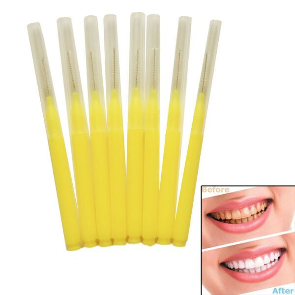 Dental: 8Pcs dental oral care interdental floss brush tooth pick teeth cleaning B rsPGrr
