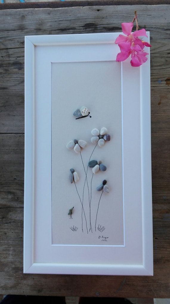 Pebble art flowers big new flowers gift big wall hanging home pebble art flowers big new flowers gift big wall hanging home decor flowers unique gift birhtday gifts negle Image collections