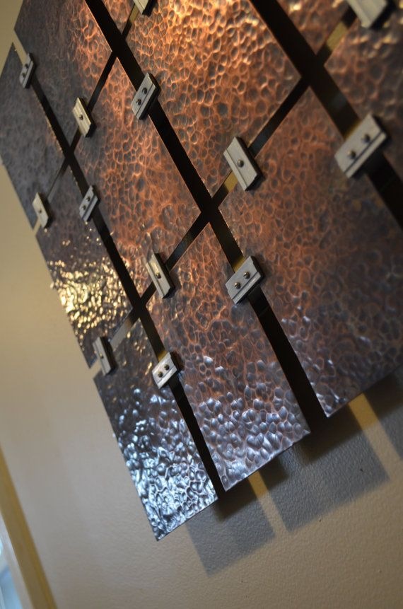 Hammered Copper Wall Art Etsy In 2020 Copper Wall Art Copper Wall Wood Wall Art Diy