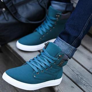 Buckled High-Top Sneakers from #YesStyle <3 Easy Steps YesStyle.com
