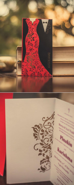Perfect Invites Wedding Invitation - Nature Autumn invite with red ...