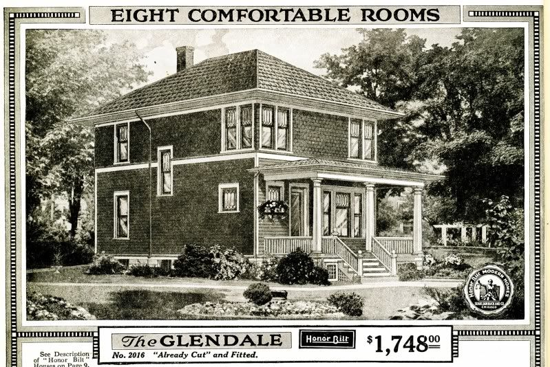 Shirtwaist American Foursquare Sears Glendale From The