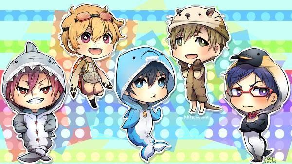Anime Fan Art Chibi Free Iwatobi Swim Club Free Iwatobi Swim Club Anime Free chibi anime wallpaper