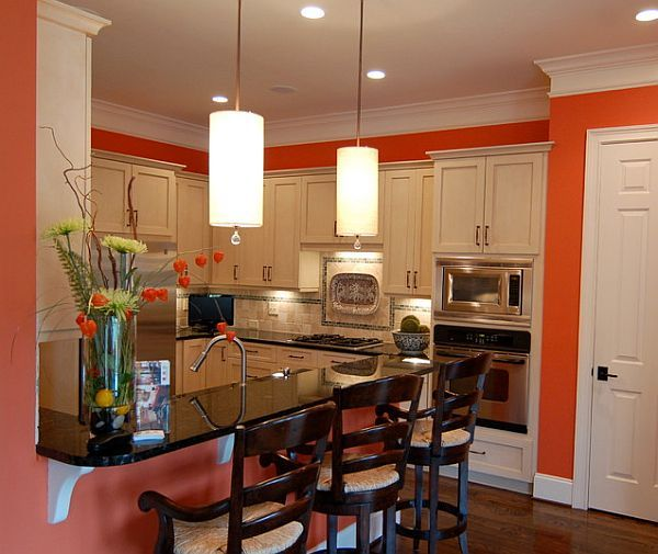 17 Best images about Orange and white kitchens on Pinterest ...