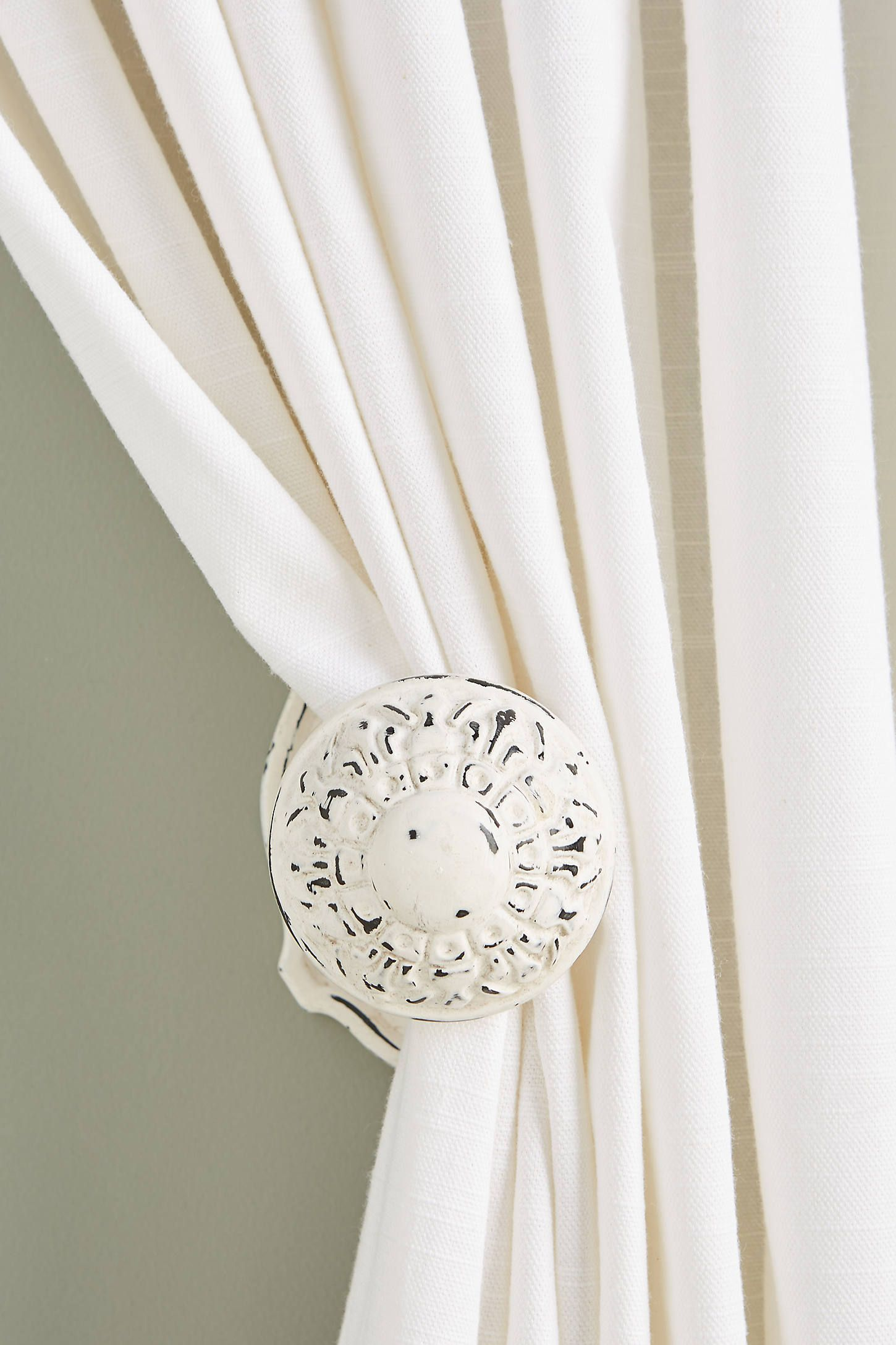 Marais Tie Back By Anthropologie In White Hardware In 2020 Home