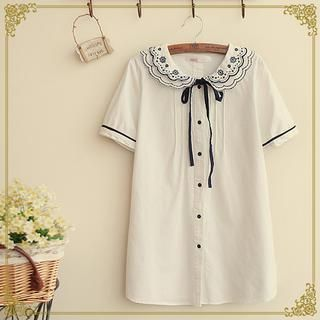Buy 'Fairyland – Embroidered Short-Sleeve Shirt' with Free International Shipping at YesStyle.com. Browse and shop for thousands of Asian fashion items from China and more!