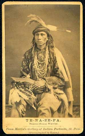 Photo of Tenazepa aka The Singer was a Dakota Sioux warrior.