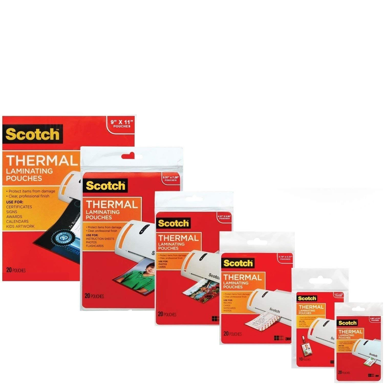3m Laminating Pouch Kit With All Varieties Of Laminating Pouches Laminators Business Card Size Document Cameras