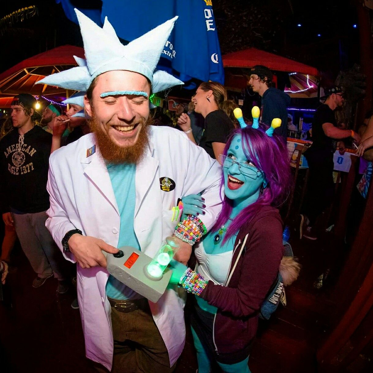 Rick & Unity! We made the costumes ourselves :) #rick #unity