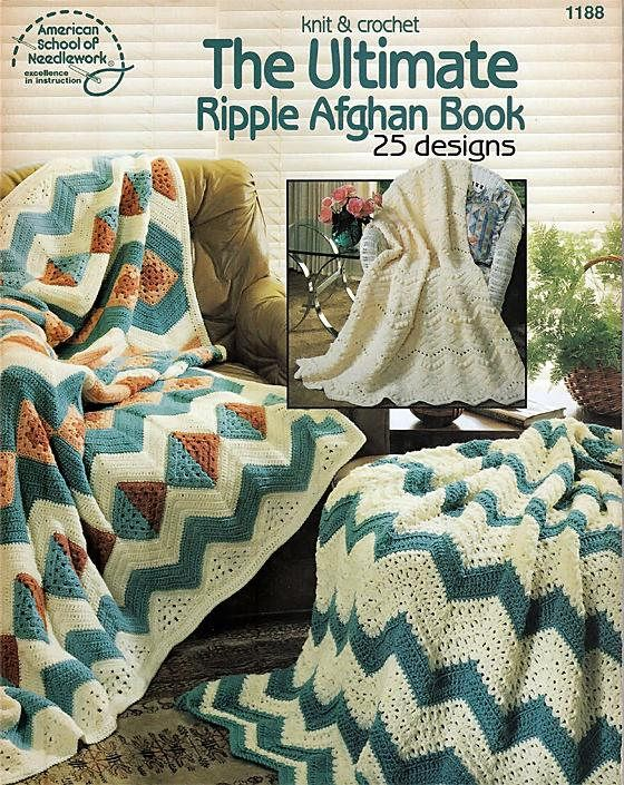 The Ultimate Ripple Afghan Book 25 Designs Crochet Pattern Cozy