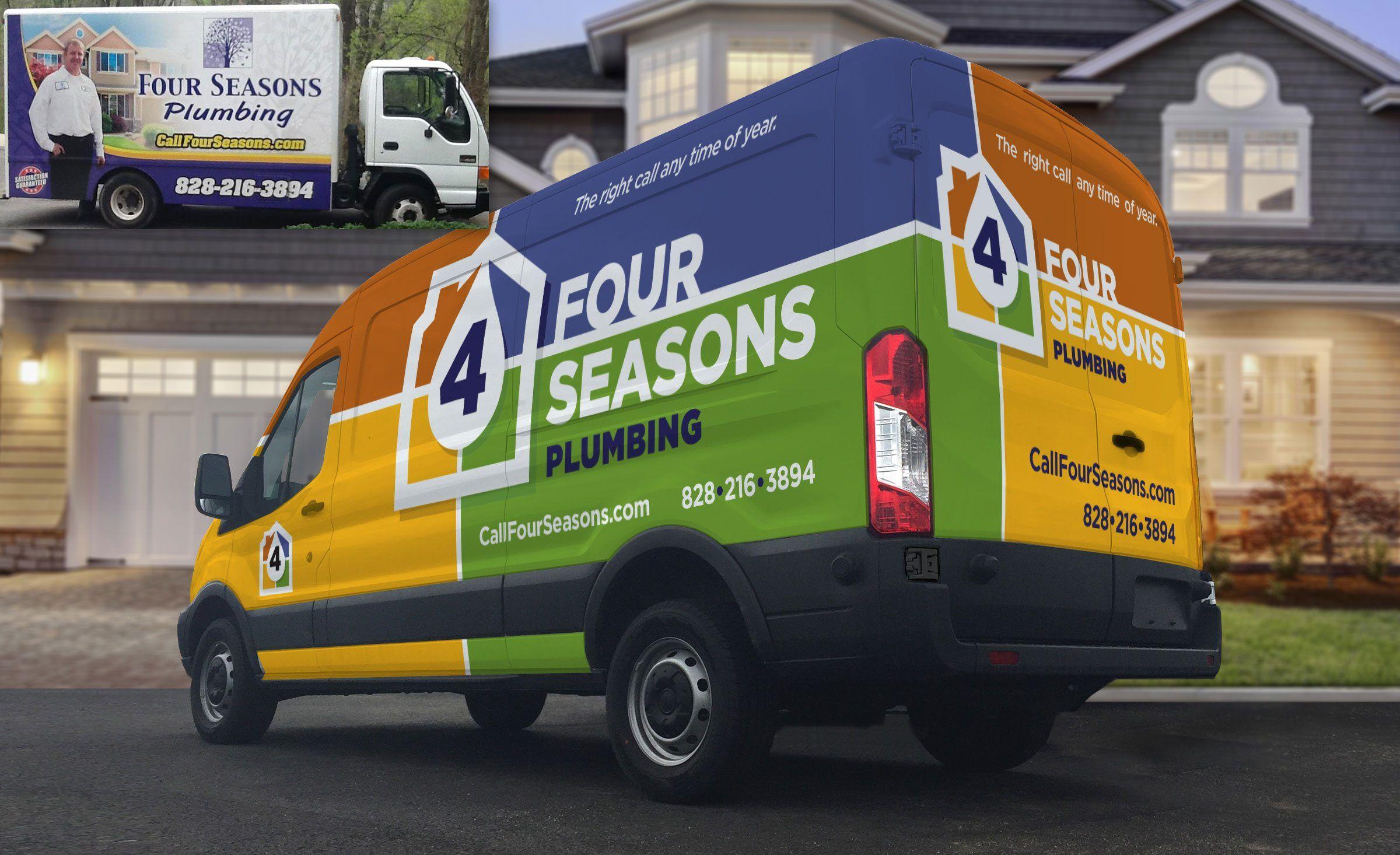 Four Seasons Plumbing Kickcharge Creative Plumbing Logo Design