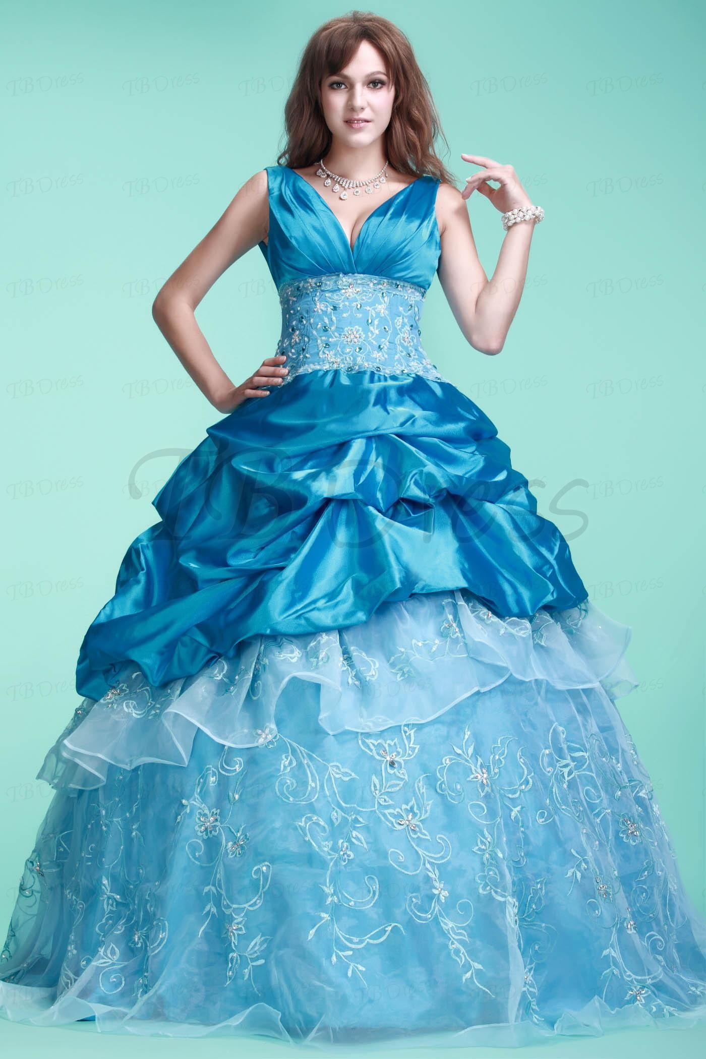 Beautiful ball gown vneck floorlength elaus quinceaneraball gown