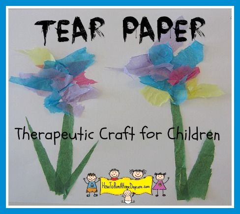therapeutic arts and crafts ideas tearing tissue paper a therapeutic craft for children 7240