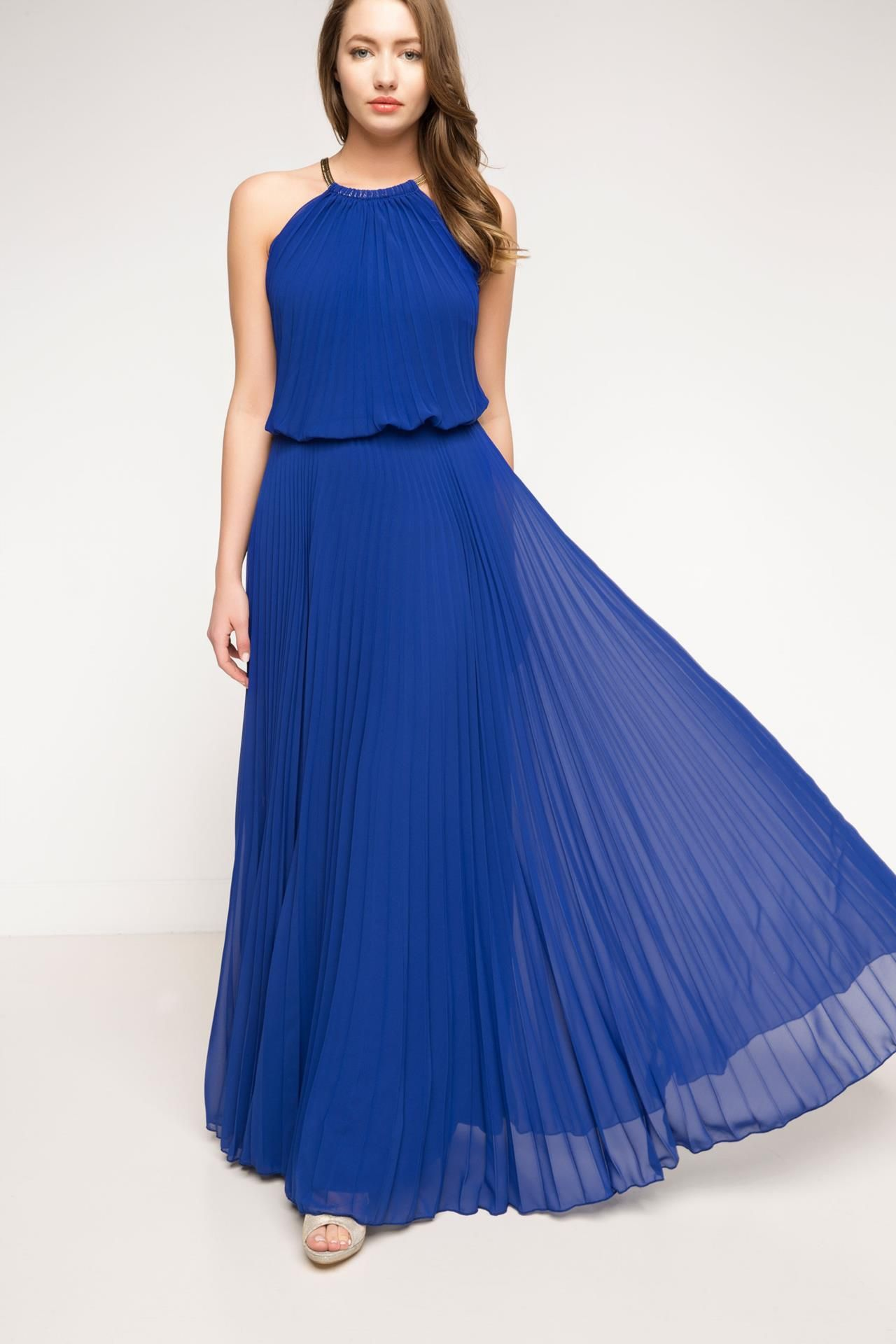 Mavi Kadin Abiye Elbise 710440 Defacto The Dress Elbise Dress Outfits