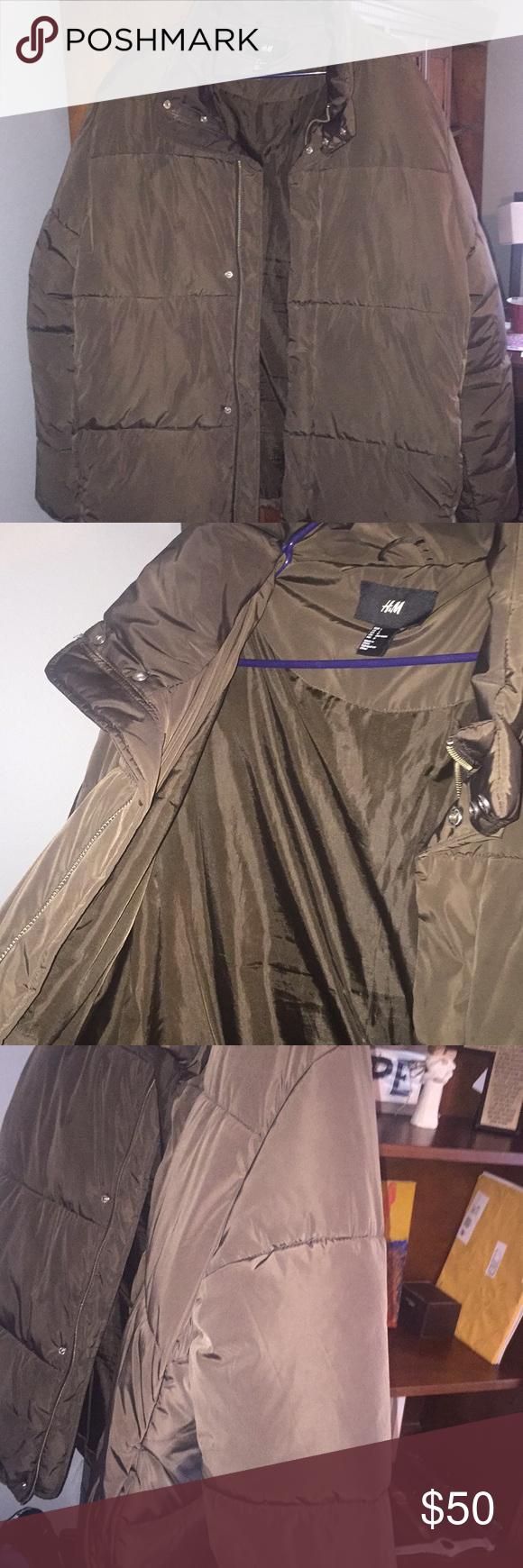Mens Dark Brown H&M Puffer Jacket Clothes design