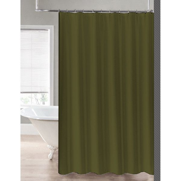 Sweet Home Collection 2 In 1 Waterproof Fabric Shower Curtain Or Liner