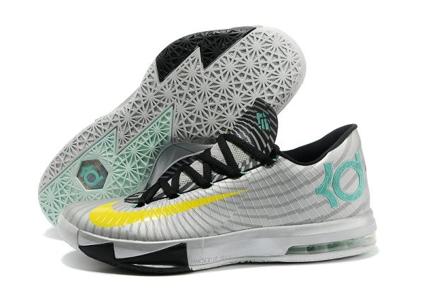 New Nike Kevin Durant 6 Low Grey Silver Black Shoes