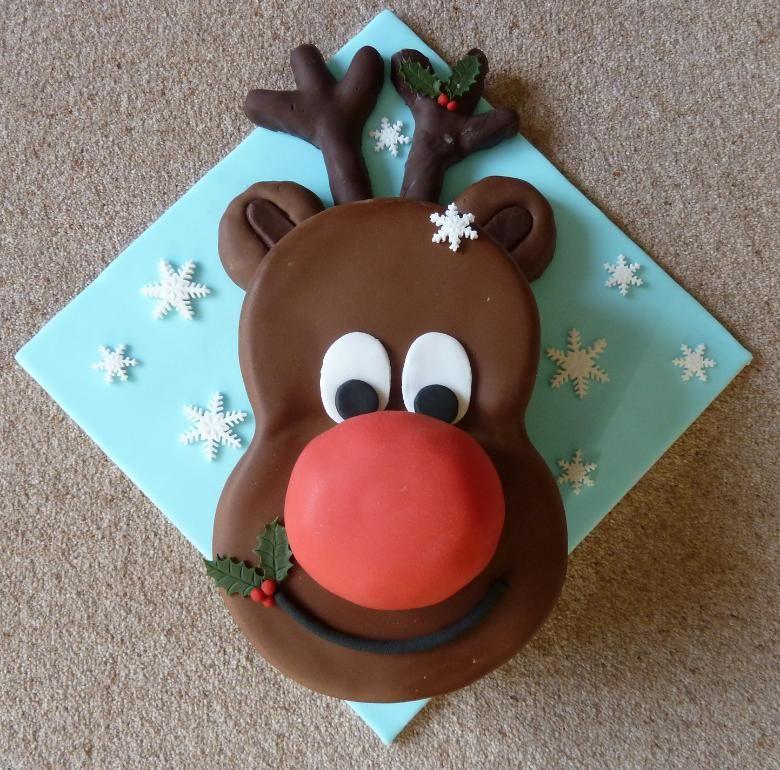 Wonderful DIY Cute Christmas Rudolph Cake | Pinterest