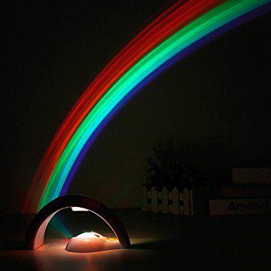 HanSemay Luce dell'arcobaleno del proiettore LED Riflessione in camera da letto, Miglior High-Tech regalo per i bambini (450mAh): Amazon.it: Illuminazione